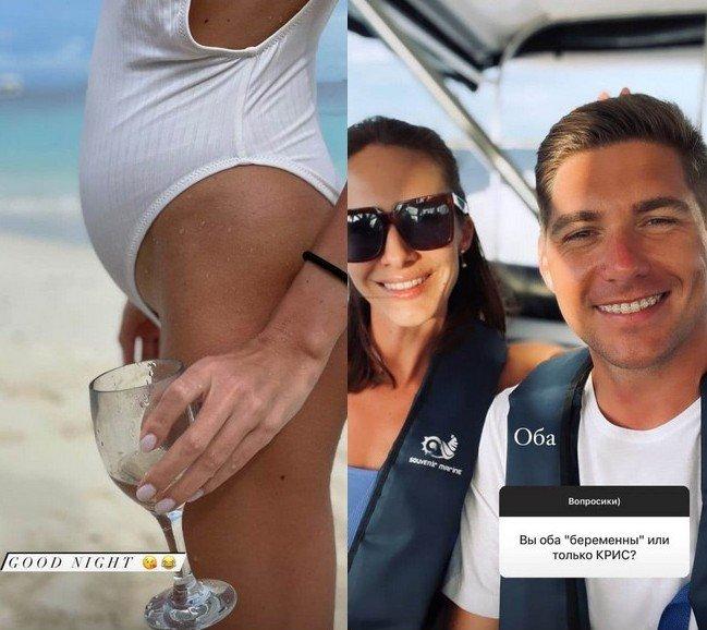 Владимир Остапчук показал фото жены с округлившимся животом