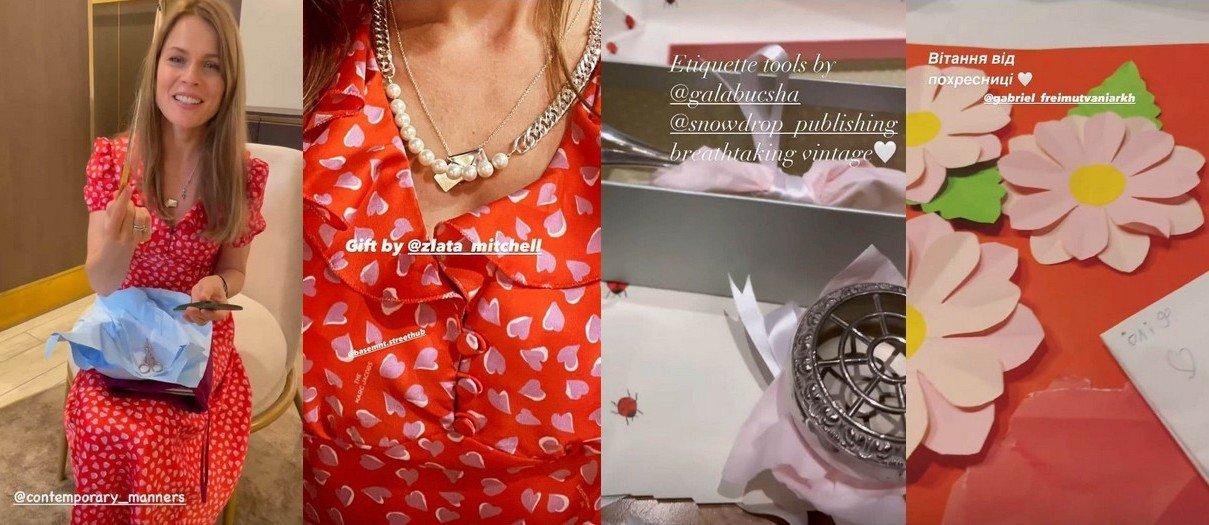 Ольга Фреймут показала, как отметила свой день рождения