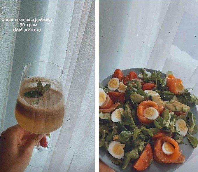Леся Нікітюк показала, чим харчується протягом дня