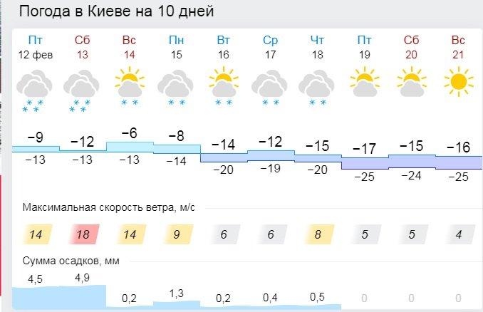 Погода в Украине: на страну надвигаются тридцатиградусный мороз и метели