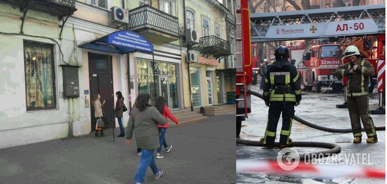 В Одесі пенсіонерка намагалася підпалити вхід до будівлі Пенсійного фонду