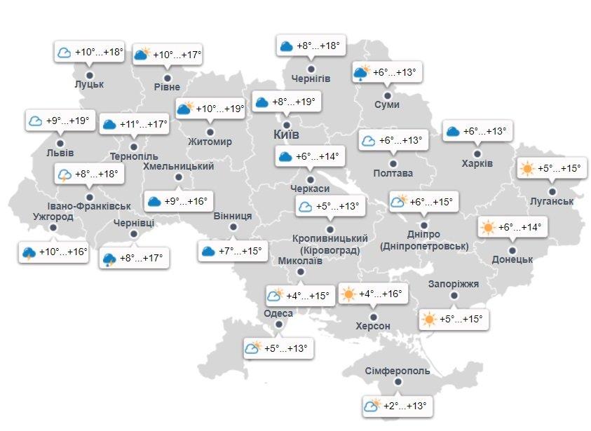 В Україні потеплішає до +18 градусів: синоптики обрадували прогнозом на перший тиждень квітня