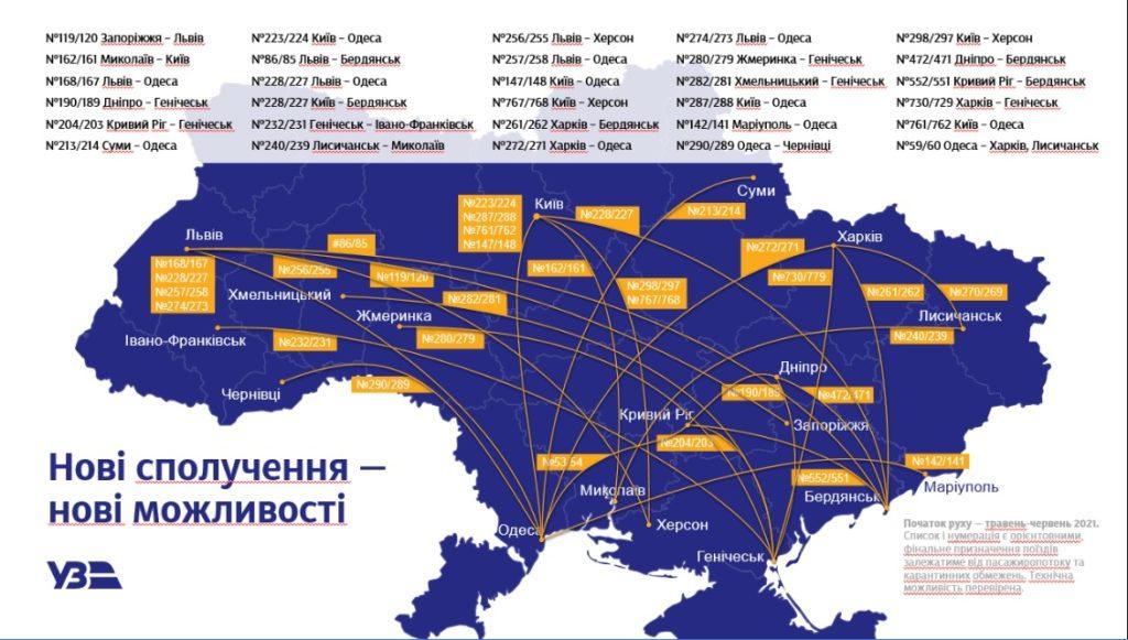 """""""Укрзалізниця"""" вводить нові маршрути на літо і змінює меню у поїздах"""