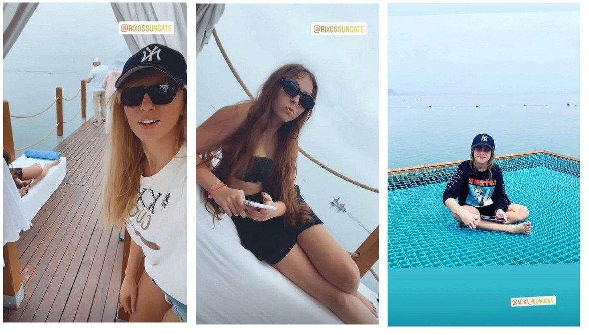 Оля Полякова показала, як відпочиває в Туреччині з мамою і дочками