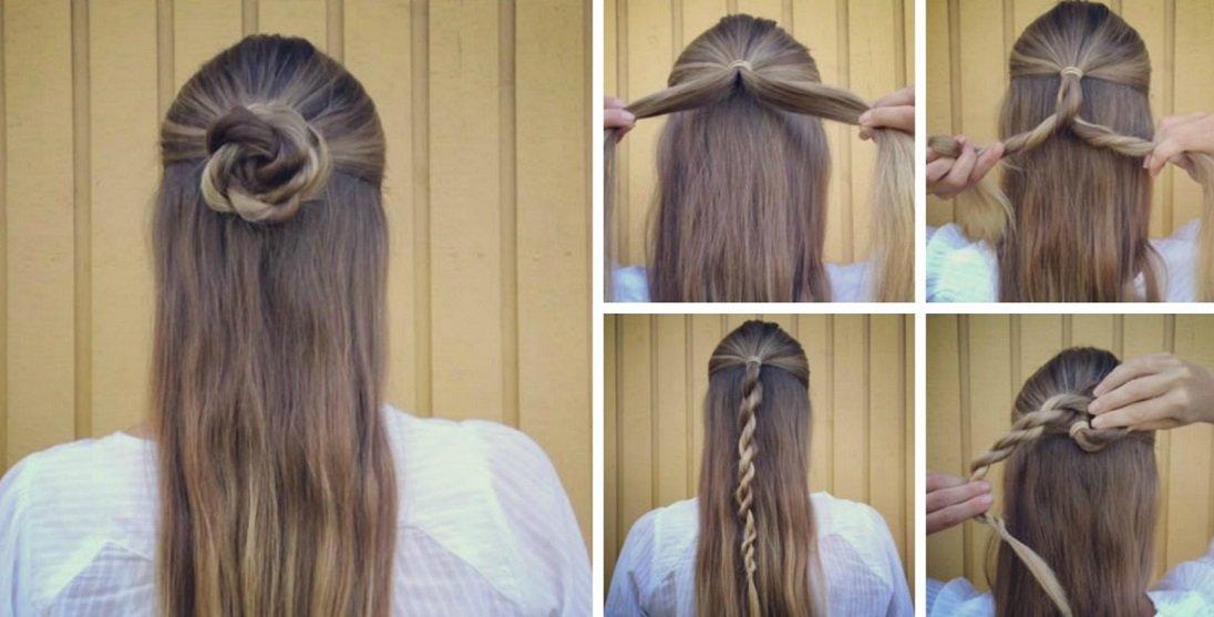 Три гарні зачіски, які підійдуть на вечірку і в офіс, своїми руками за 5 хвилин
