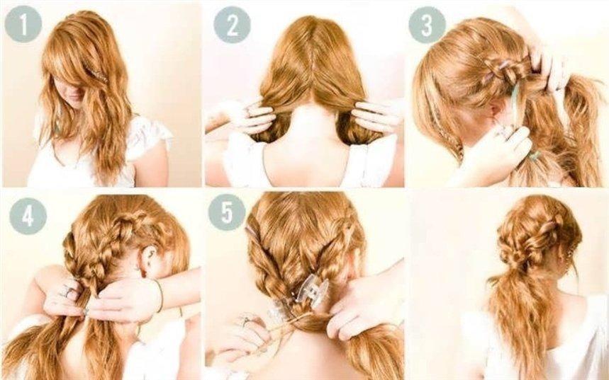 Чотири прості і модні зачіски для довгого волосся своїми руками