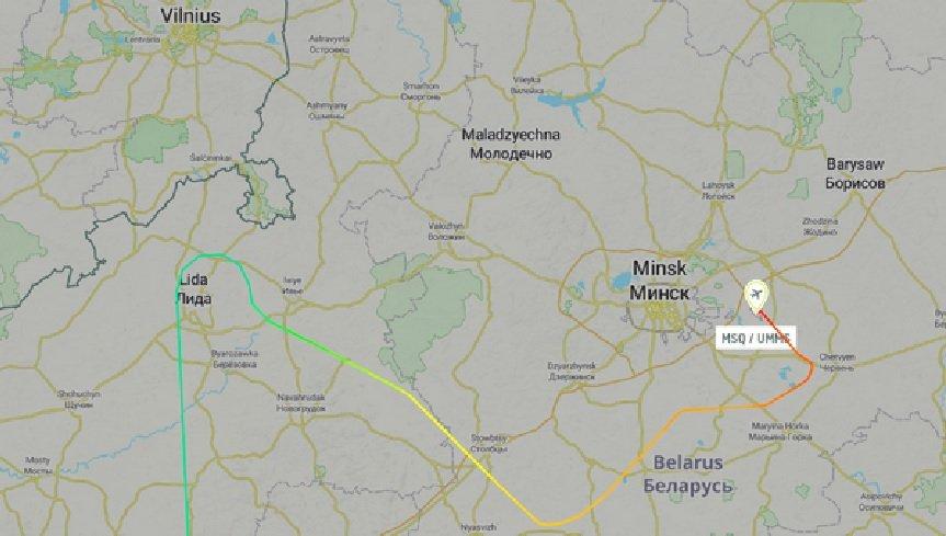 Посадка літака компанії Ryanair у Мінську: все, що відомо про цей інцидент