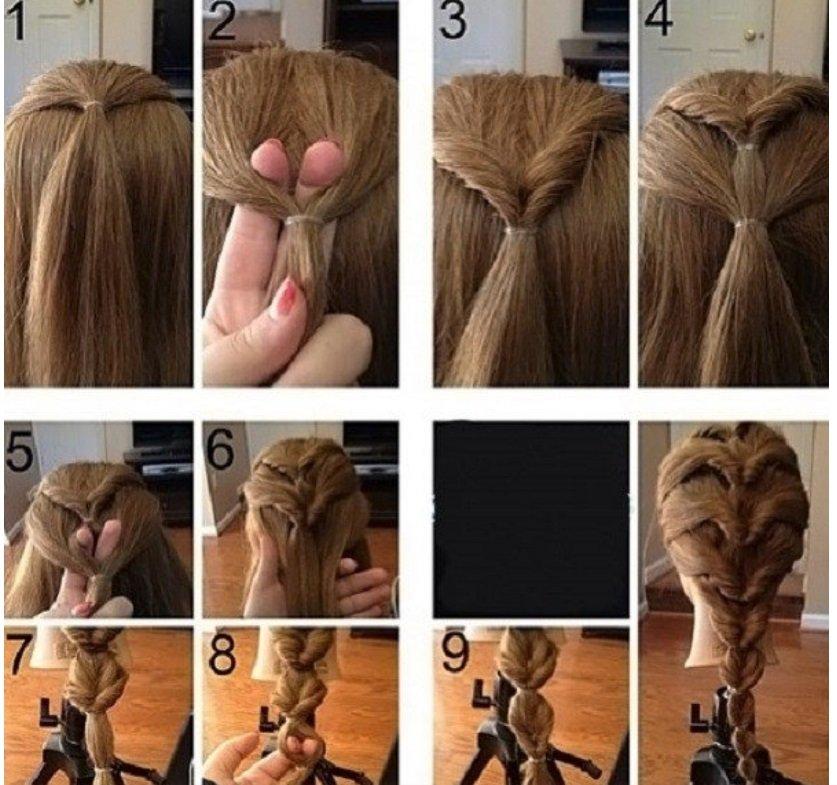Три роскошные прически с резинками для средних и длинных волос своими руками