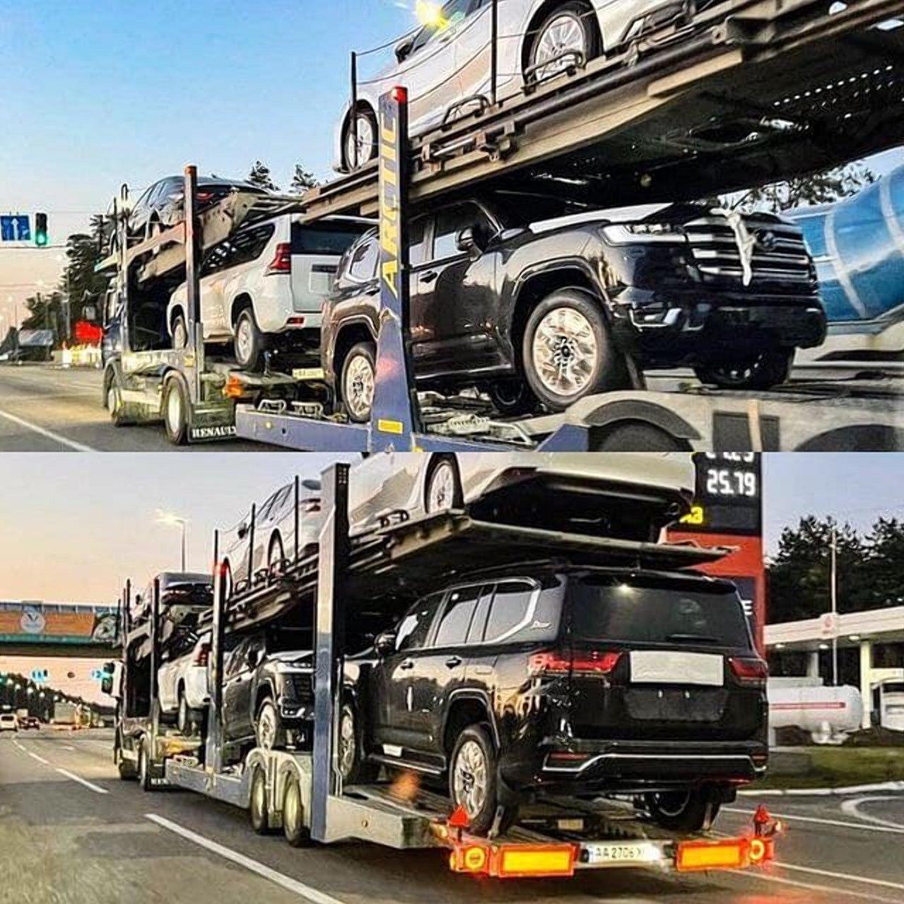 В Украину привезли партию Toyota Land Cruiser 300