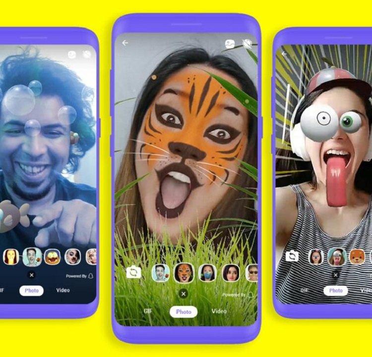 У Viber з'являться мегапопулярні фільтри Snapchat