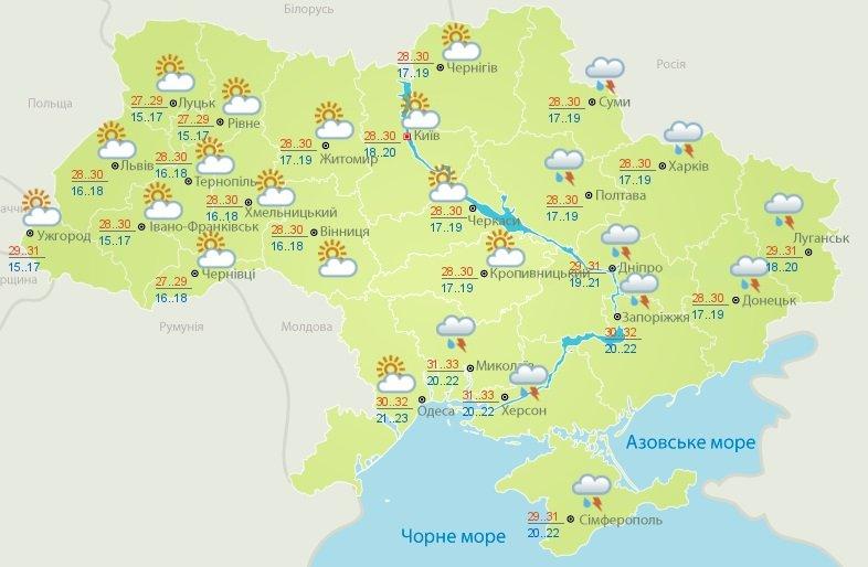 В Україну йде похолодання: прогноз погоди від Укргідрометцентру