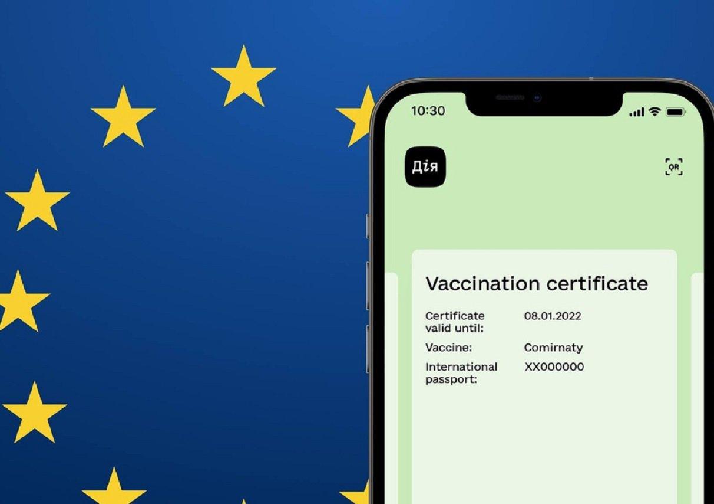 Евросоюз официально признал украинские COVID-сертификаты