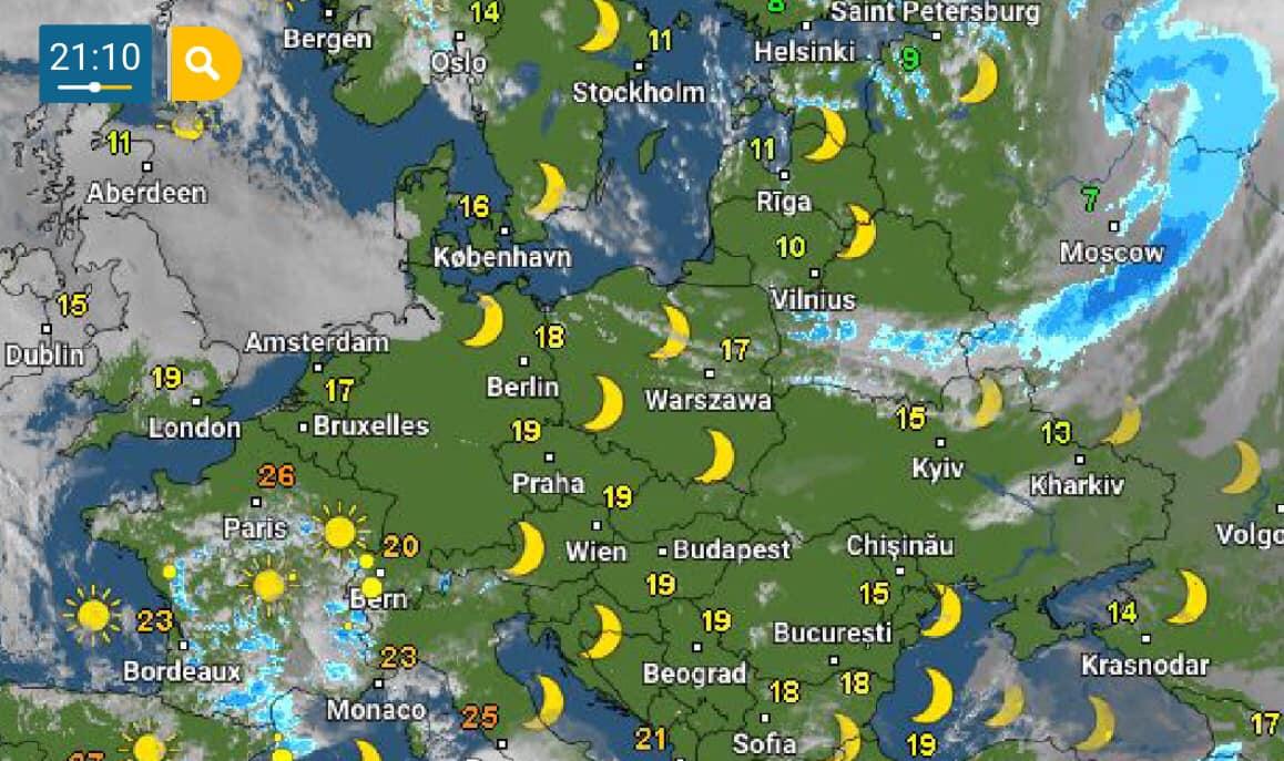 В Україну рухається холодний атмосферний фронт: нічна погода принесе заморозки