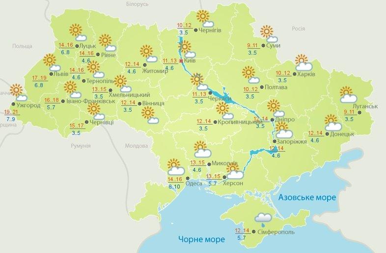 В Україні різко похолоднішає: прогноз погоди від Укргідрометцентру до середини наступного тижня